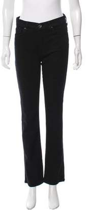 Jen7 Mid-Rise Straight-Leg Jeans