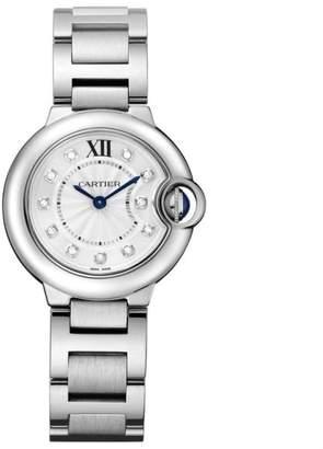 Cartier Ballon Bleu 28mm we902073 Stainless Steel Quartz Diamond Watch