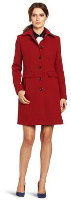 Calvin Klein Women's Mid-Length Single Breasted Wool Coat