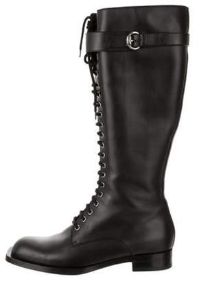 Gucci Leather Knee-High Boots Black Leather Knee-High Boots