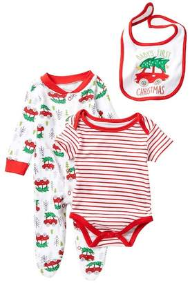 Baby Starters Baby's First Christmas Bodysuit, Footie & Bib Set (Baby)