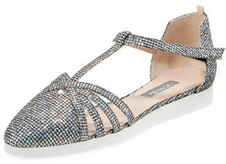 Sarah Jessica Parker Meteor Carrie Holographic Sneakers Sandal