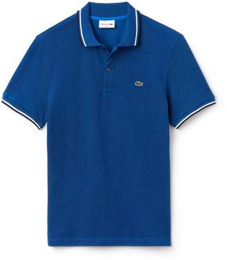 Lacoste Men's Slim Fit Contrast Accents Caviar Pique Polo