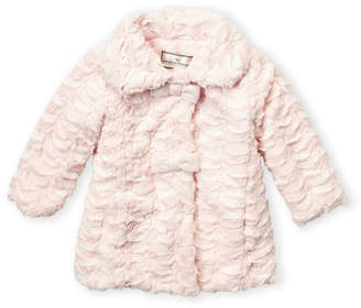 American Widgeon (Toddler Girls) Faux Fur Bow A-Line Coat