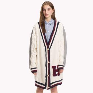 Tommy Hilfiger Crest Cable Knit Cardigan