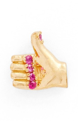 Women's Marc Jacobs Thumbs Up Single Stud Earring $35 thestylecure.com