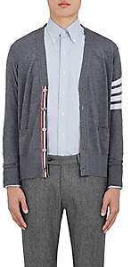 Thom Browne Men's Block-Striped Wool Cardigan - Gray