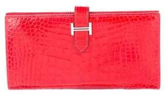 Hermes Alligator Bearn Wallet