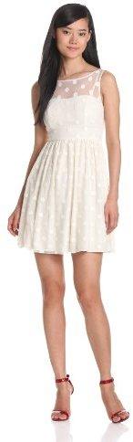 Jill Stuart Jill Women's Sleeveless Polka Dot Mesh Dress