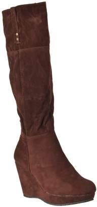 Bamboo Womens Hush Microsuede Knee-high Fashion Boots