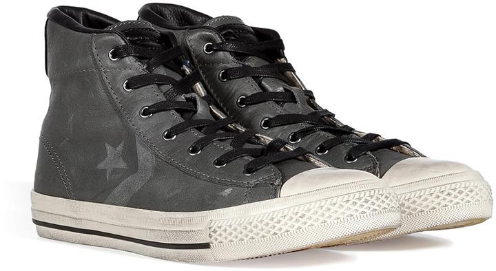 Converse Charcoal John Varvatos Star Player Mid-Sneakers