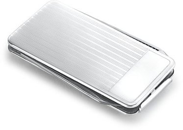 Striped Money Clip with Knife in Sterling Silver
