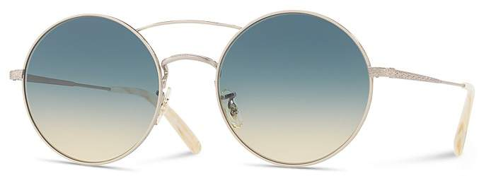 Oliver Peoples Nickol Round Sunglasses, 53mm