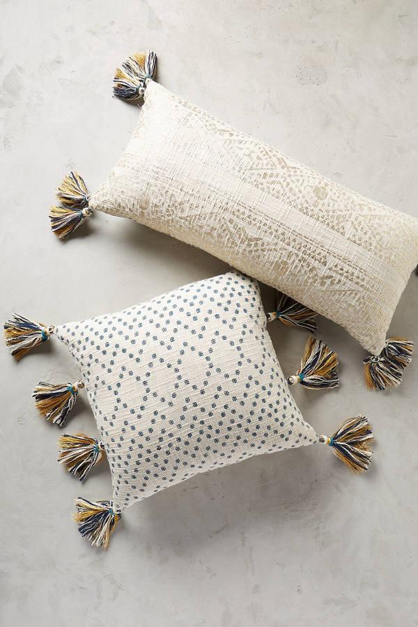 AnthropologieAnthropologie Tasseled Pointilliste Pillow