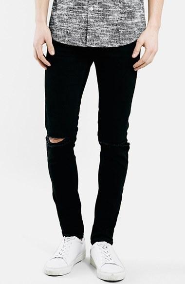 Men's Topman Ripped Stretch Skinny Fit Jeans