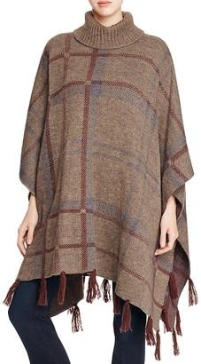 Barbour Plaid Knit Poncho $299 thestylecure.com
