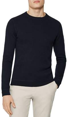 Reiss Dakota Honeycomb Stitch Crewneck Sweater