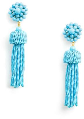Lisi Lerch Turquoise Tassel Earrings $98 thestylecure.com