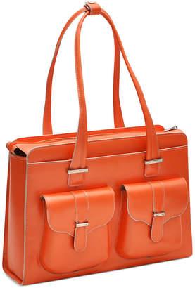 McKlein Alexis Leather Laptop Briefcase