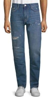 Calvin Klein Jeans Slim-Fit Distressed Cotton Jeans