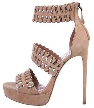 Alaia Suede Platform Sandals