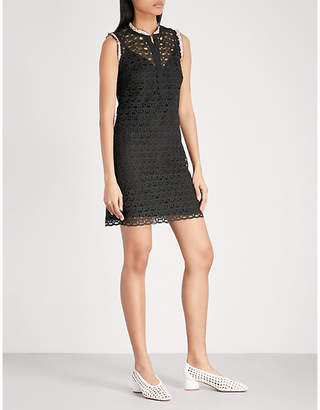 Sandro Embroidered lace mini dress