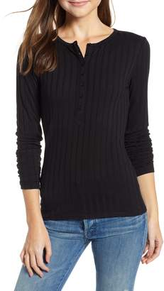 Treasure & Bond Button Front Henley Top