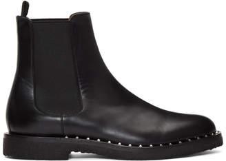 Valentino Black Garavani Soul Rockstud Chelsea Boots