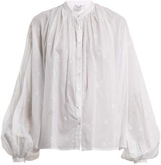 Thierry Colson Slava balloon-sleeved blouse