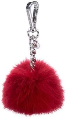Michael Kors Fur Pom-Pom Bag Charm w/ Tags