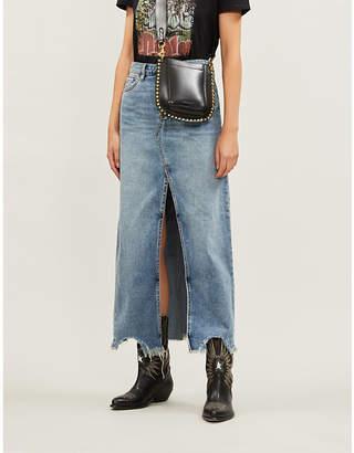 Free People Rhiannon denim maxi skirt