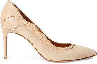 Ralph Lauren Eulee Suede-Nappa-Leather Pump