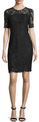 Elie Tahari Bellamy Lace Long-Sleeve Dress, Black $498 thestylecure.com