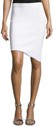 Thierry Mugler Asymmetric-Hem Pencil Skirt $800 thestylecure.com