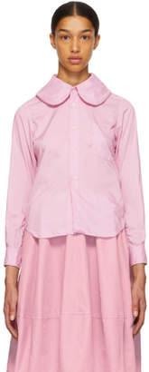 Comme des Garcons Pink Round Collar Shirt