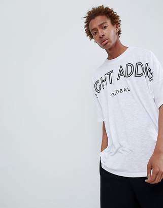 Night Addict Dropped Shoulder Back Print T-Shirt