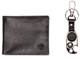 Timberland Sportz Billfold Leather Wallet & Key Fob 2-Piece Set $52 thestylecure.com