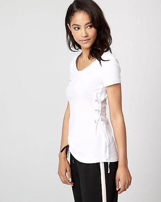 Le Château Cotton Slub Lace-Up T-Shirt
