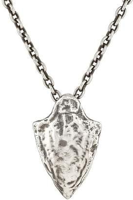 Feathered Soul Men's Arrowhead Pendant Necklace