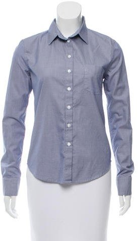 Band Of Outsiders Band of Outsiders Houndstooth Button-Up Top