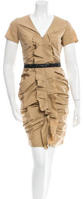 Vera Wang Ruched Dress $155 thestylecure.com