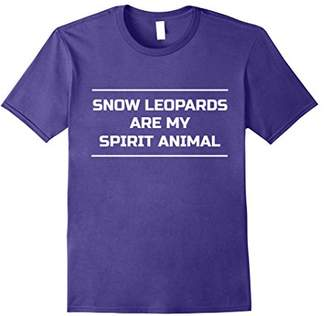Snow Leopards Are My Spirit Animal Shirt Funny Leopard Tee