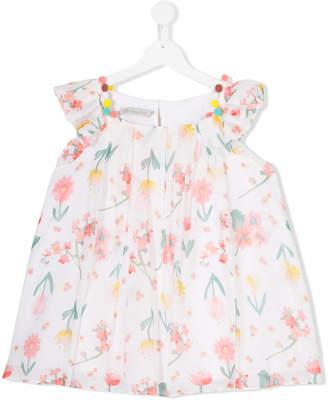 Christian Dior Teen embellished floral-print blouse