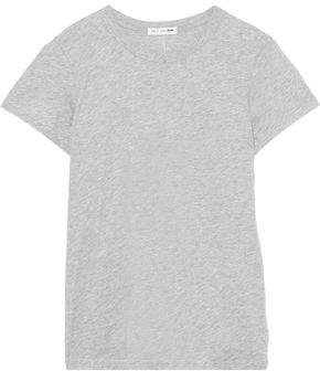Rag & Bone The Tee Melange Pima Cotton-jersey T-shirt