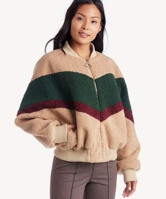 Sole Society Colorblock Teddy Fur Jacket