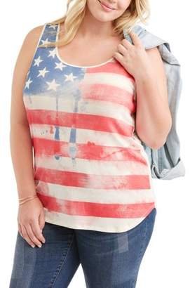 American High Women's Plus Graphic Hi Low Tank