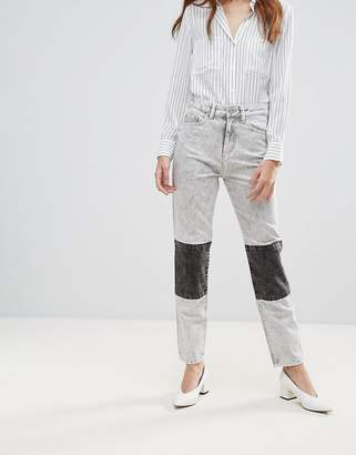 WÅVEN Elsa Panelled Acid Wash Mom Jeans
