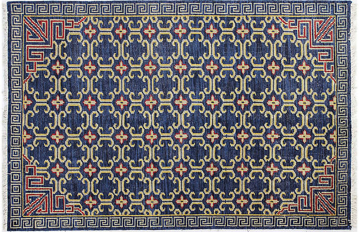 Iman Hand-Knotted Rug - Navy - 7'6
