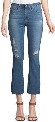 AG Jeans Jodi Cropped High-Rise Flare-Leg Jeans
