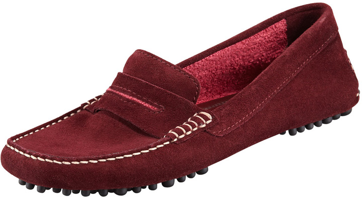 Manolo Blahnik Terry-Trimmed Suede Driver